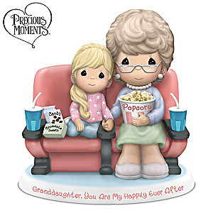 Precious Moments Grandmother And Granddaughter Figurine