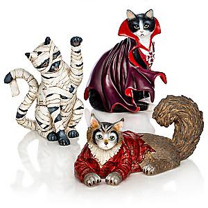 "Blake Jensen ""Furr-ightfully Fun"" Halloween Cat Figurine Set"