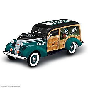 Philadelphia Eagles 1937 Woody Wagon Sculpture