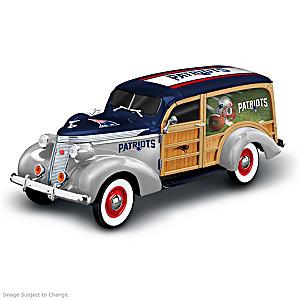 New England Patriots 1937 Woody Wagon Sculpture