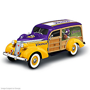 Minnesota Vikings 1937 Woody Wagon Sculpture