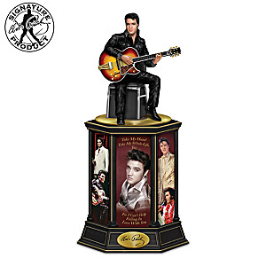 Elvis Presley Illuminated Tribute Tower Sculpture