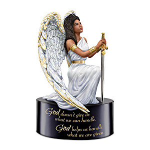 Keith Mallett Warrior Angel Figurine With Inspiring Message