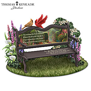 "Thomas Kinkade ""Until We Meet Again"" Remembrance Sculpture"