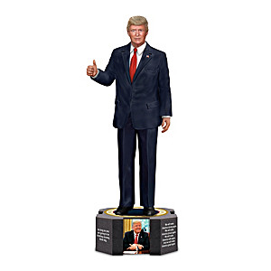 President Donald J. Trump Sculpture With Photos And Quotes