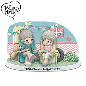 Precious Moments Happy Campers Couple Porcelain Figurine