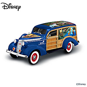 Disney Mickey Mouse & Minnie Mouse Woody Wagon Sculpture