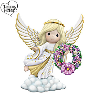 Precious Moments Porcelain Angel With Seasonal Wreaths