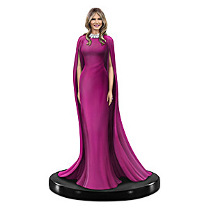 Melania Trump Figurine With 18 Swarovski Crystals