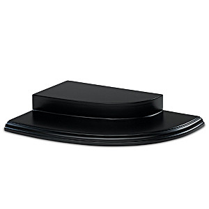 Two-Tiered Black Wooden Display For Collectible Figurines