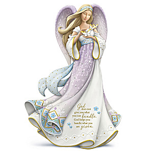 Karen Hahn Angel Figurine Adorned With Swarovski Crystals