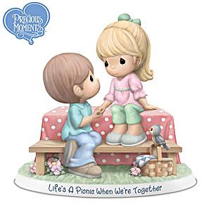 Precious Moments Picnic Couple Porcelain Figurine
