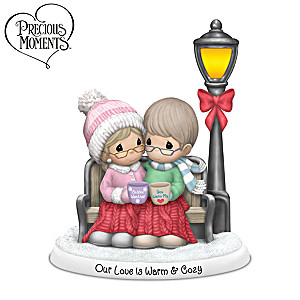 Precious Moments Our Love Is Warm & Cozy Porcelain Figurine