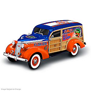 1:18-Scale Florida Gators Woody Wagon Sculpture