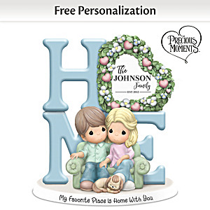 Precious Moments Romantic Personalized Couples Figurine