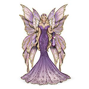"Sara Biddle ""Serenity Of The Amethyst"" Fairy Figurine"