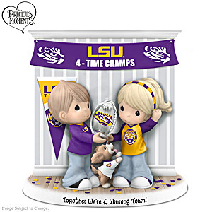 LSU Tigers Precious Moments Porcelain Figurine