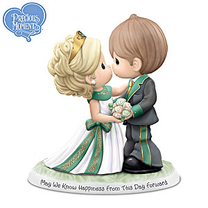 Precious Moments Porcelain Wedding Day Couple Figurine