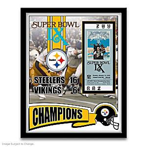 Pittsburgh Steelers Super Bowl IX Framed Print