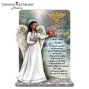 The Nurse's Prayer Figurine With Thomas Kinkade Artwork