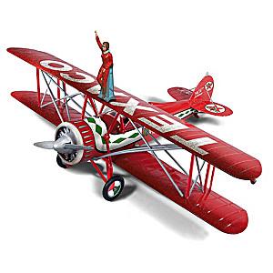1:30-Scale Texaco 1929 Waco Straightwing Barnstormer Plane