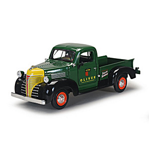 1:24-Scale 1941 Oliver Diecast Pickup With Rubber Tires