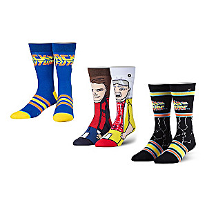 Back To The Future-Inspired Socks 3-Pair Set