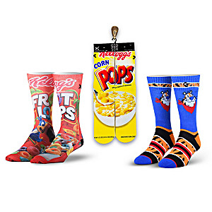 Classic Cereal Inspired Crew-Length Socks 3-Pair Set