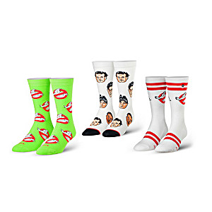 Ghostbusters Cotton-Blend Unisex Crew Socks: 3-Pair Set