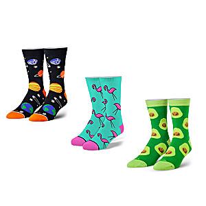 Toe-tally Cool Cotton-Blend Unisex Crew Socks: 3-Pair Set