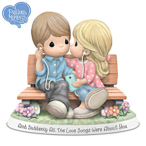 Porcelain Precious Moments Love Song Couples Figurine