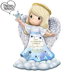 """Continue To Light Up The World"" Illuminated Angel Figurine"
