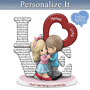 Precious Moments Couple Figurine With Elvis Lyrics