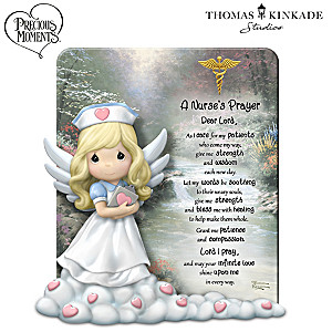 "Precious Moments Thomas Kinkade ""A Nurse's Prayer"" Sculpture"