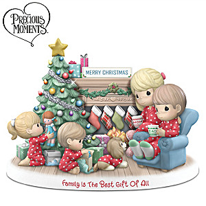 Precious Moments Illuminated Family Christmas Figurine