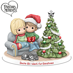 Precious Moments Illuminated Christmas Couple Figurine