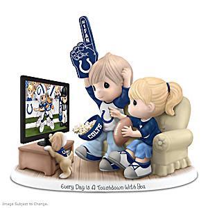 Precious Moments Football Fan Porcelain Figurine