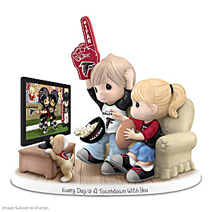 Precious Moments Football Fan Porcelain Figurine