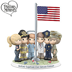 Precious Moments Porcelain Figurine Honors First Responders