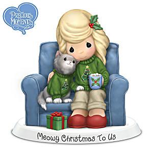 Precious Moments Meowy Christmas To Us Figurine