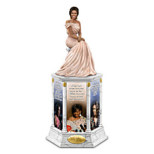 Michelle Obama Illuminated Tower Sculpture With Her Quotes