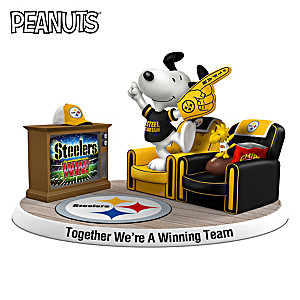 PEANUTS Together We're A Winning Team Steelers Figurine