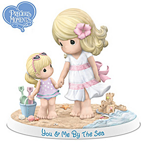 "Precious Moments ""You & Me By The Sea"" Porcelain Figurine"