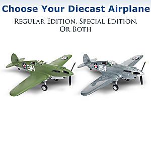 1:44-Scale Curtiss P-40B Tomahawk Diecast Airplane