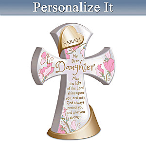 Protect & Strengthen My Daughter Personalized Cross