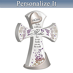 Mother, You Are The World Personalized Cross