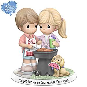 Together We're Grilling Up Memories Porcelain Figurine