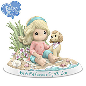 You & Me, Fur-ever By The Sea Porcelain Figurine