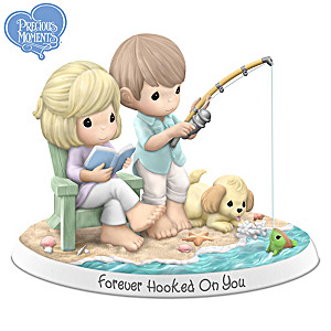 Precious Moments Forever Hooked On You Porcelain Figurine