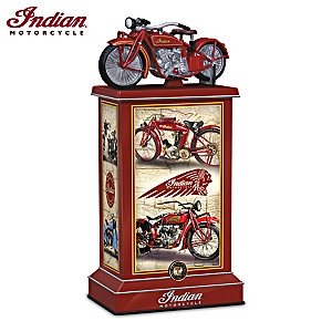 Indian Motorcycle Illuminated Tribute Tower Sculpture